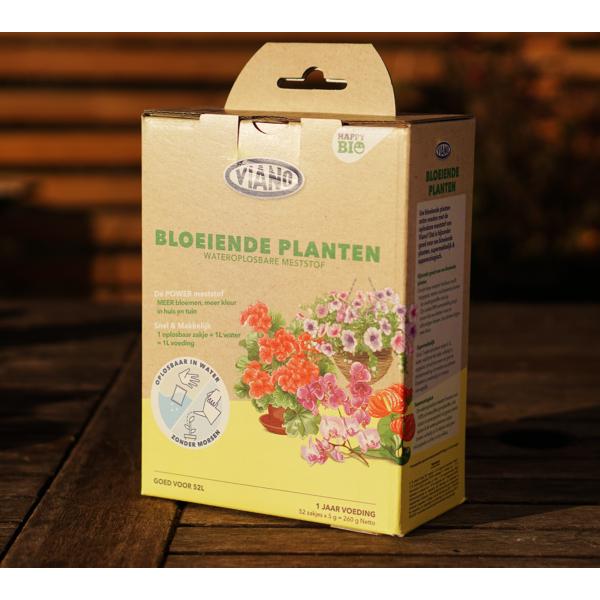 Viano Bio Happy, vízben oldódó szervestáp virágzó növények számára