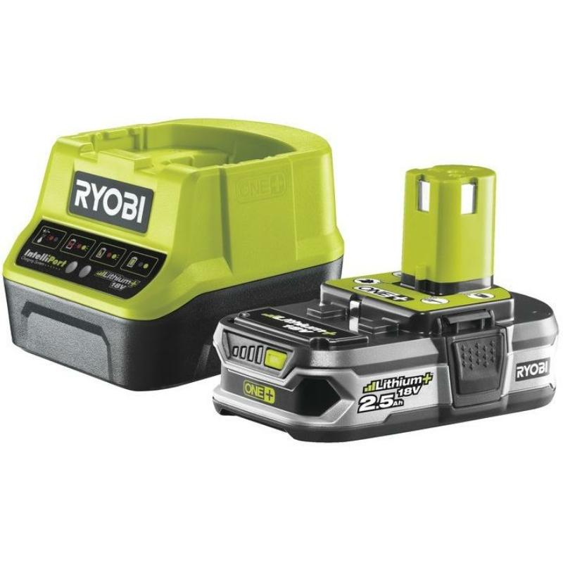 Ryobi  18 V 2,5 Ah Lithium+ akkumulátor és töltő