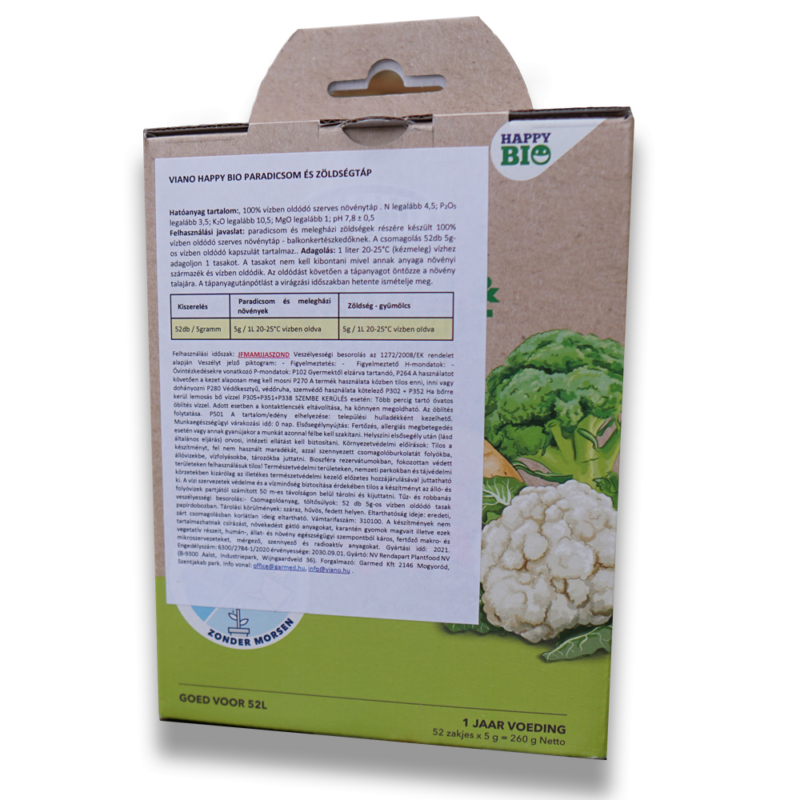 Viano Bio Happy zöldség- és paradicsomtáp